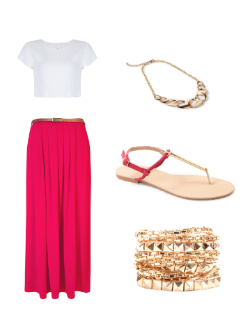 Top: Mr Price; Skirt: Mr price; Sandal: Mr Price; Chain: Woolworths; Bracelets: Mr price