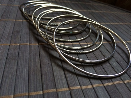 Silver set of bangles (R35)